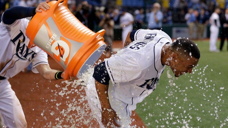 APTOPIX Marlins Rays Baseball