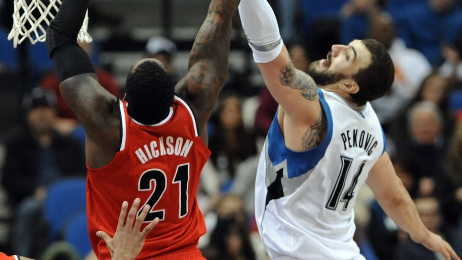 Trail Blazers Timberwolves Pekovic Basketball