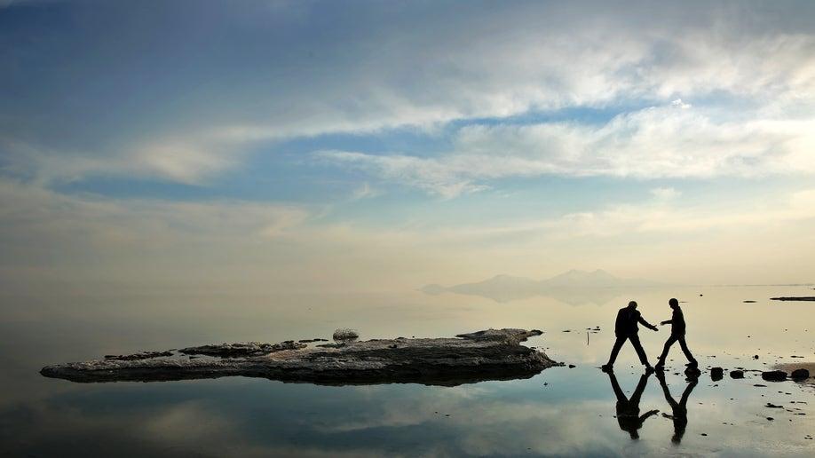 APTOPIX Mideast Iran Dying Lake