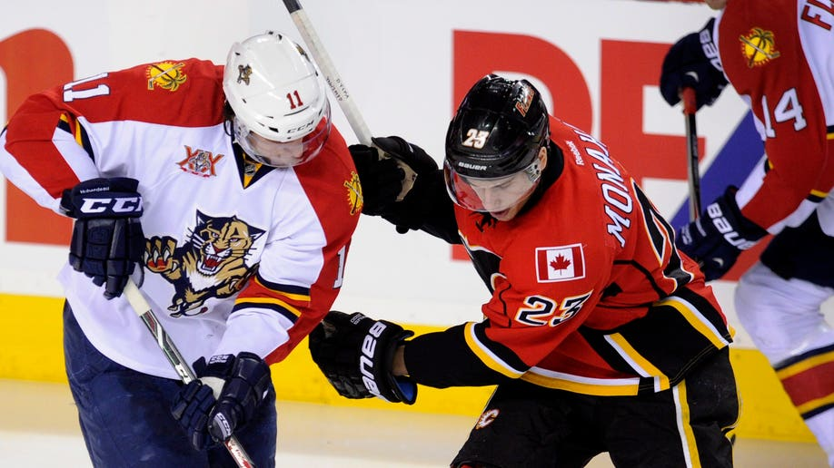 Panthers Flames Hockey