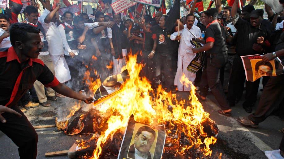 India Sri Lanka Protest