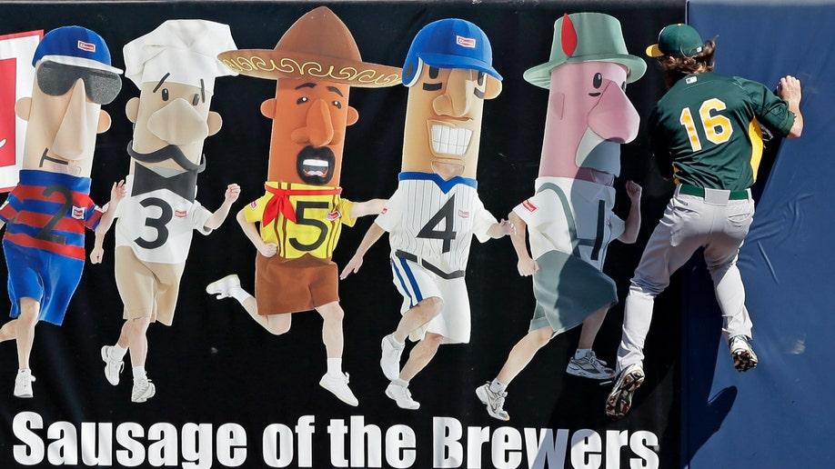 APTOPIX Athletics Brewers Spring Baseball
