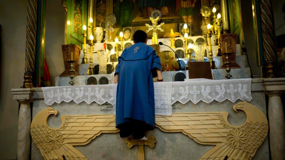 APTOPIX Mideast Syria Beleaguered Christians