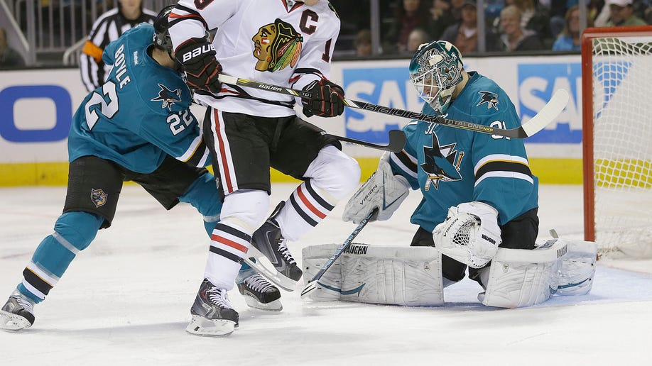 Blackhawks Sharks Hockey