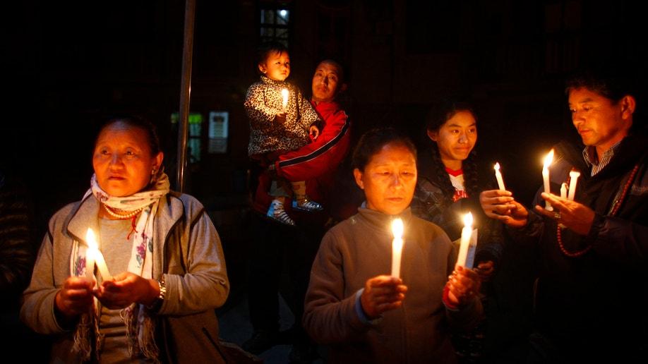 Nepal Tibetan Protestor