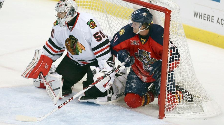 Blackhawks Panthers Hockey