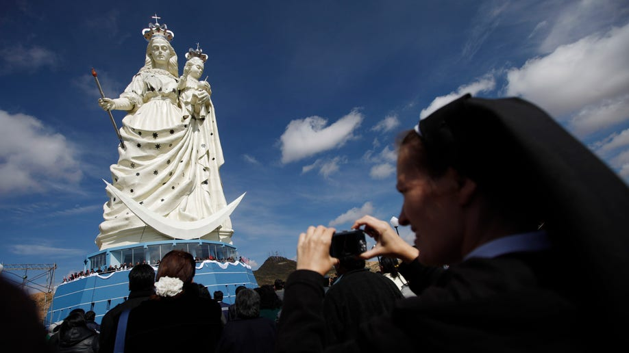 Bolivia Virgin Statue
