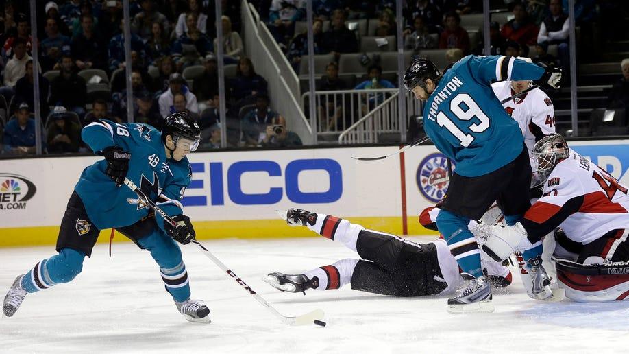 Senators Sharks Hockey