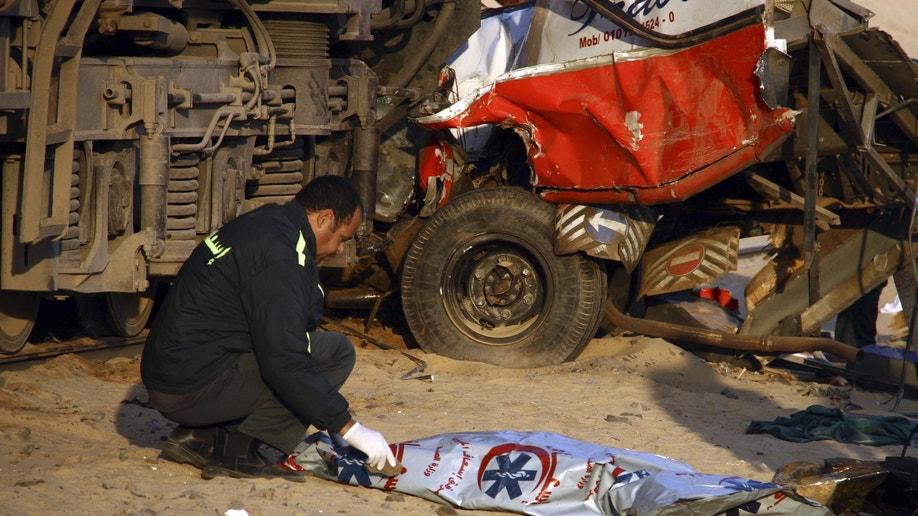 APTOPIX Mideast Egypt Train Accident
