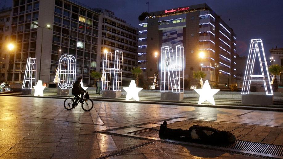 APTOPIX Greece Christmas Financial Crisis