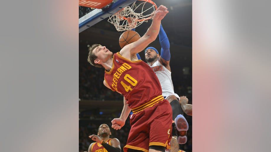 Cavaliers Knicks Basketball