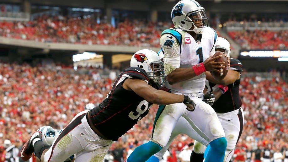 APTOPIX Panthers Cardinals Football