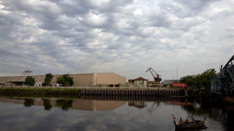 Argentina Sewage River