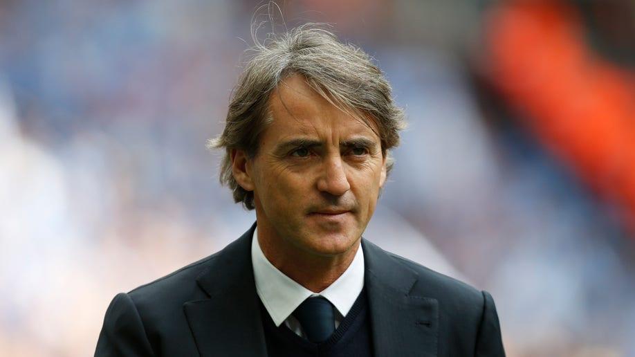 Britain Soccer Man City Mancini