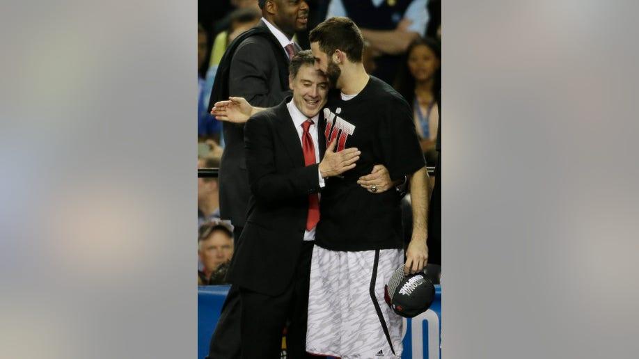 9e23f7e1-NCAA Final Four Michigan Louisville Basketball