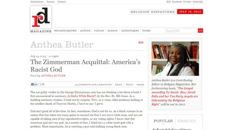 Ivy League Professor Calls God A Racist After Zimmerman Verdict