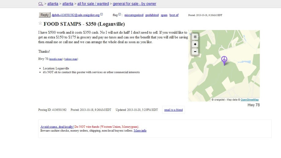 Craigslist Makes Turning Food Stamps Into Cash A Snap Fox News
