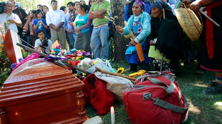 APTOPIX Chile Mapuche Death
