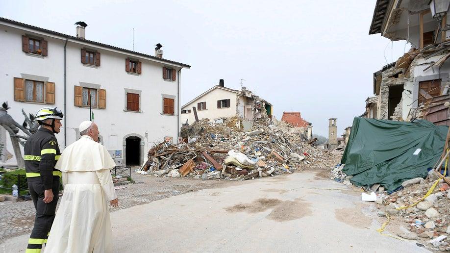 Italy Pope Quake