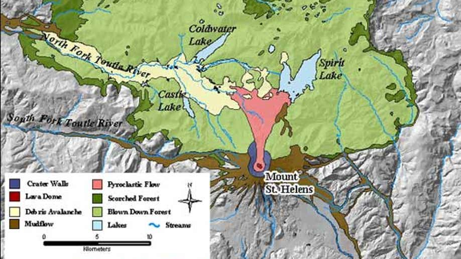 Mt St Helens Washington Map.Mount St Helens Then And Now Fox News