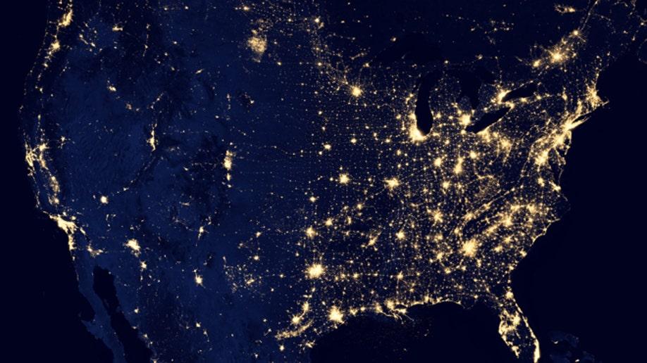 6959e4ed-APTOPIX Earth At Night