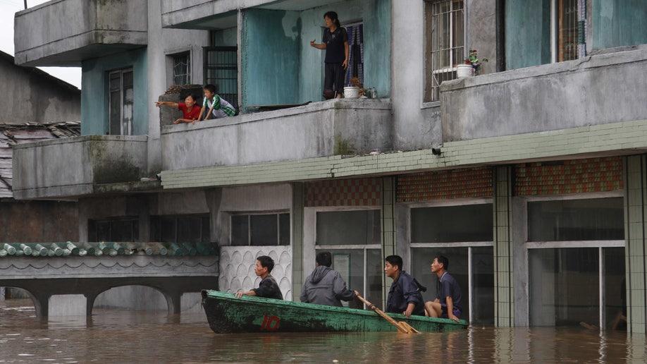 North Korea Flood Damage