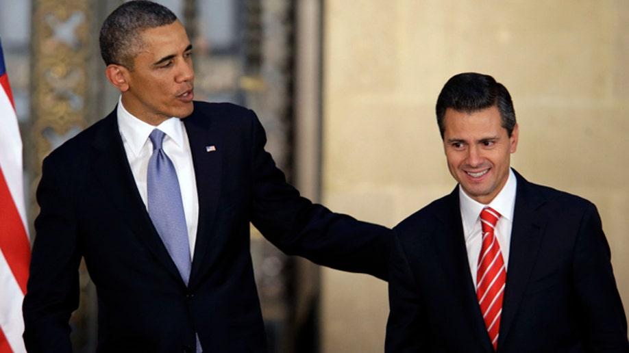 APTOPIX Mexico Obama