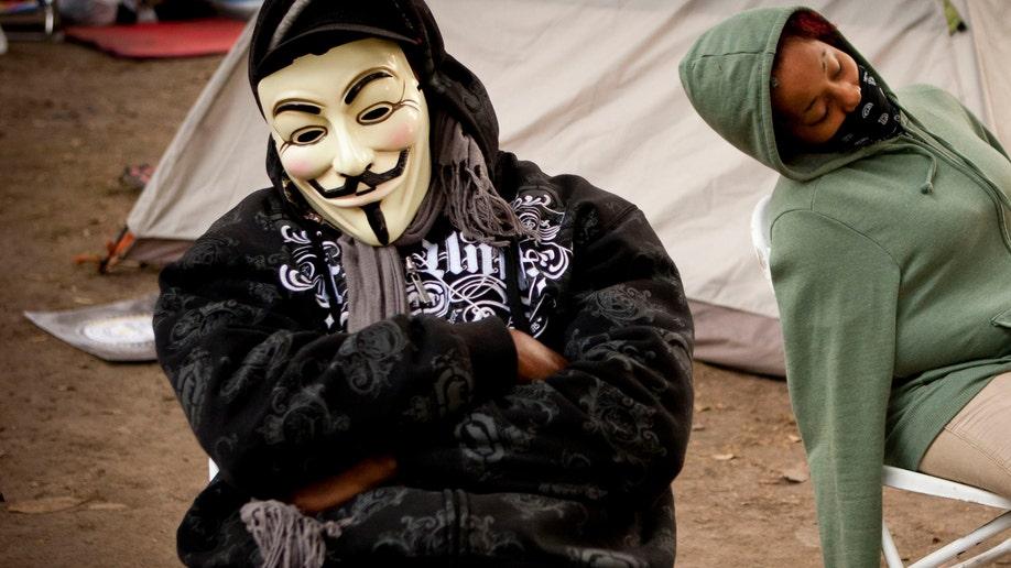 APTOPIX Occupy Los Angeles