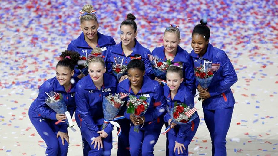 APTOPIX Olympics Trials Womens Gymnastics