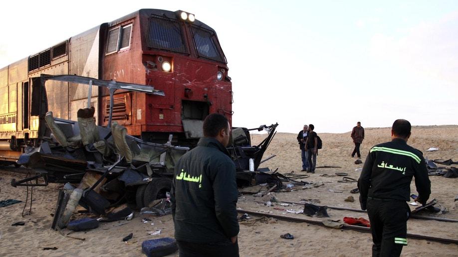 Mideast Egypt Train Accident