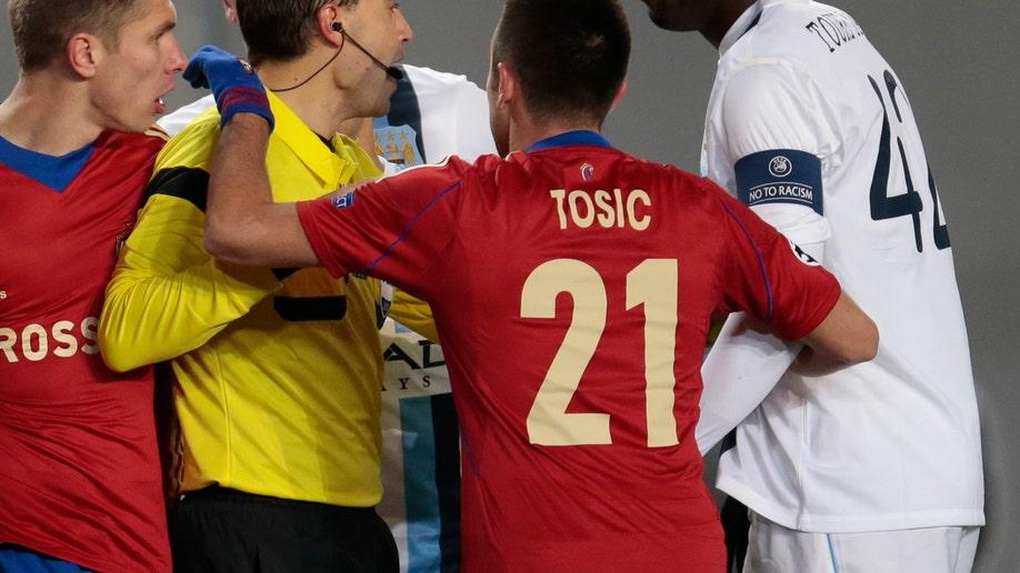 Russia Soccer Man City Toure Racism