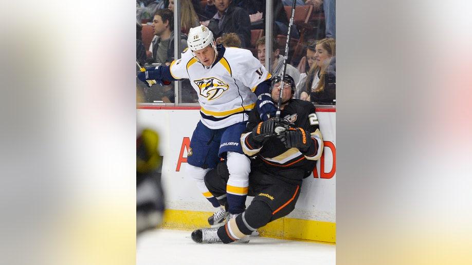 Predators Ducks Hockey