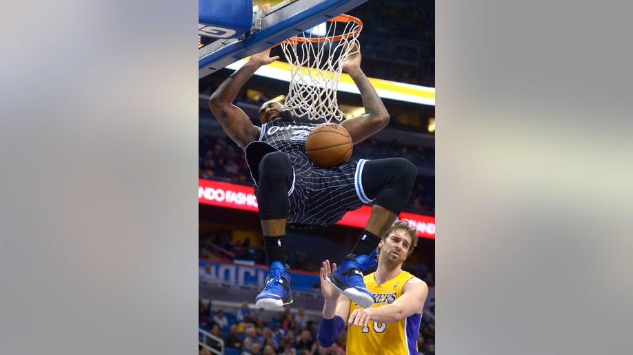 APTOPIX Lakers Magic Basketball