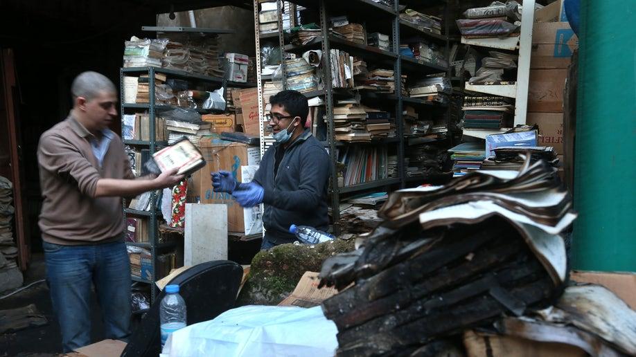 8768677c-Mideast Lebanon Library Fire