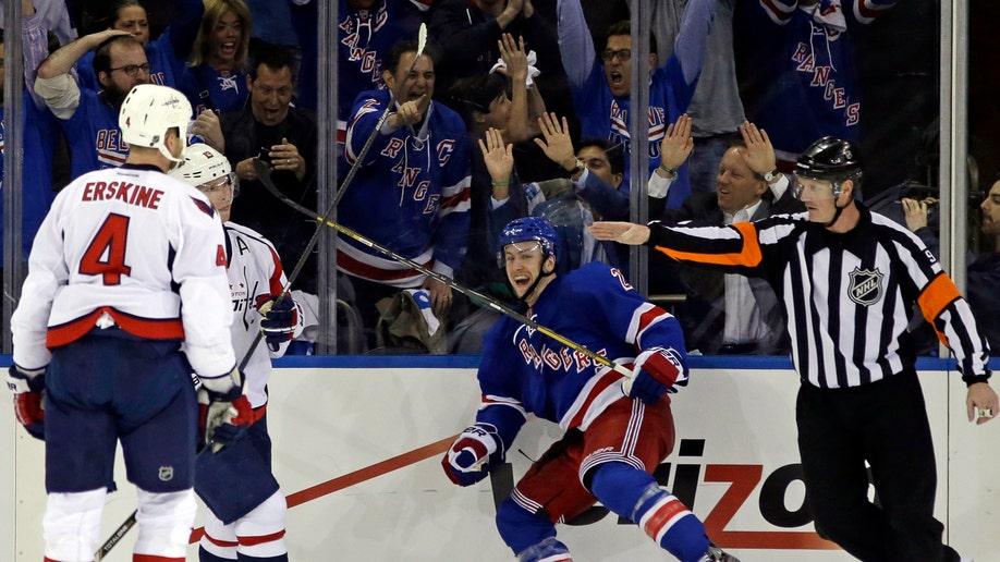 APTOPIX Capitals Rangers Hockey