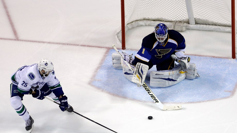 Canucks Blues Hockey