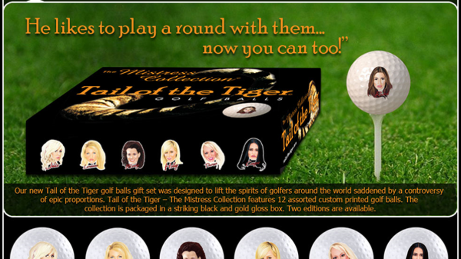 Tiger Woods Mistress Golf Ball Set Fox News