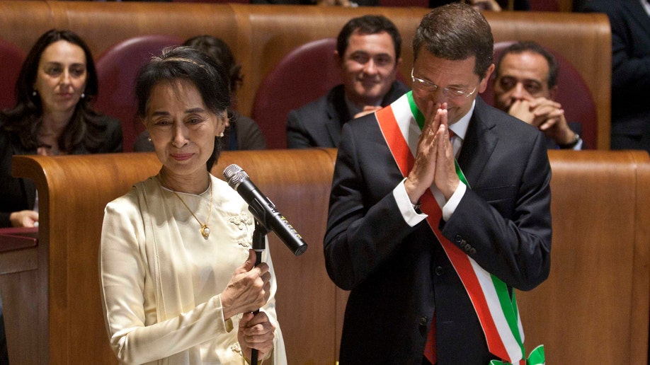 Italy Myanmar Suu Kyi