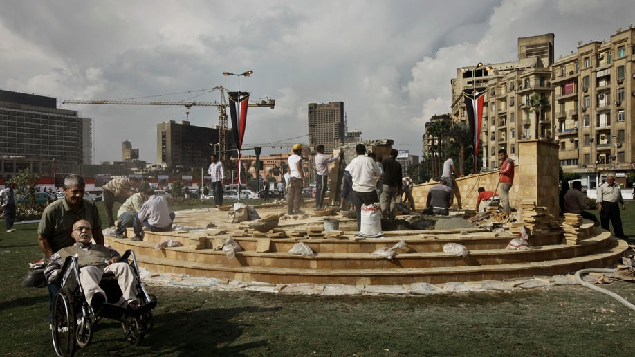 Mideast Egypt Tahrir Memorial