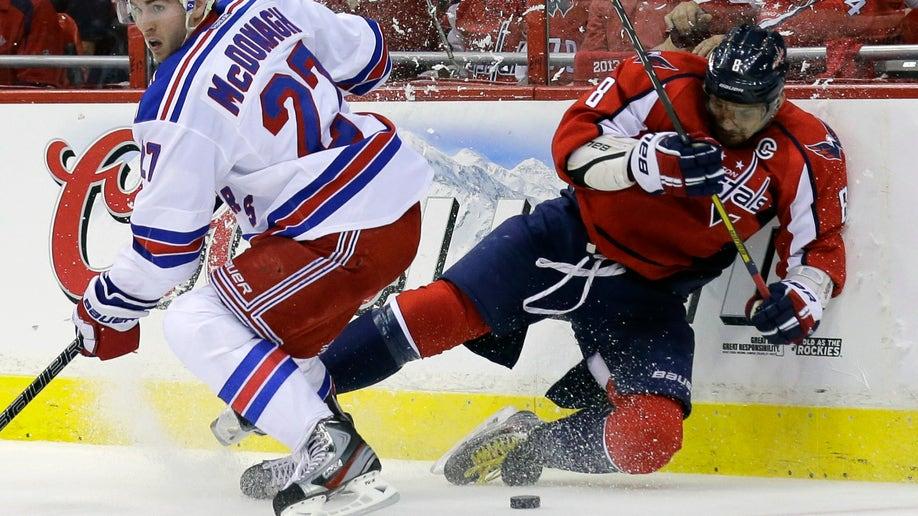 APTOPIX Rangers Capitals Hockey