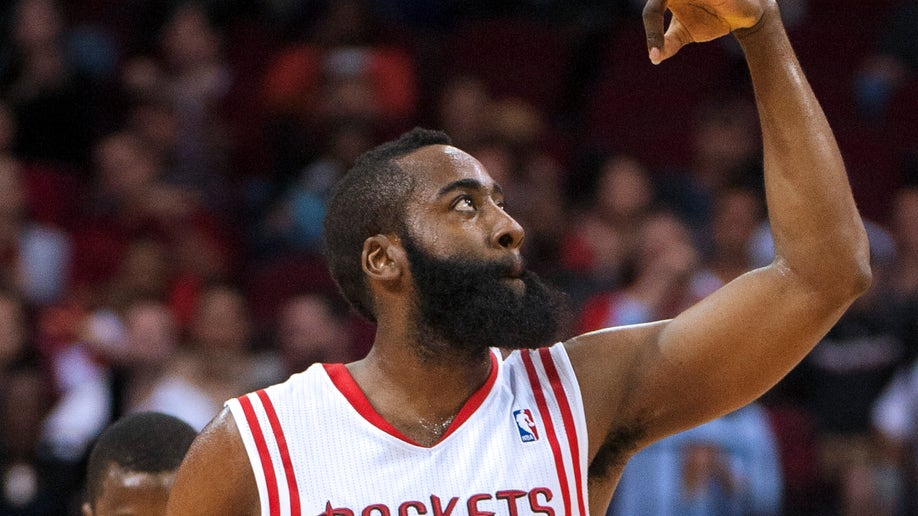 APTOPIX Warriors Rockets Basketball