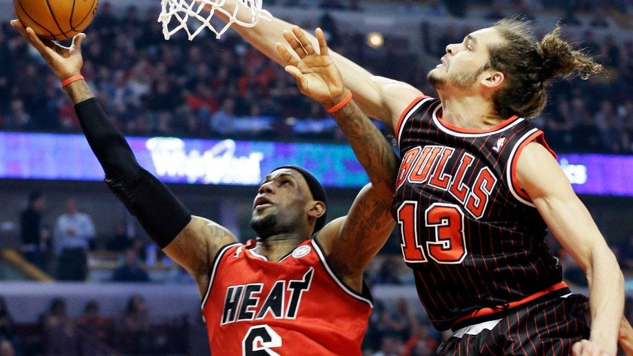 Heat Bulls Basketball
