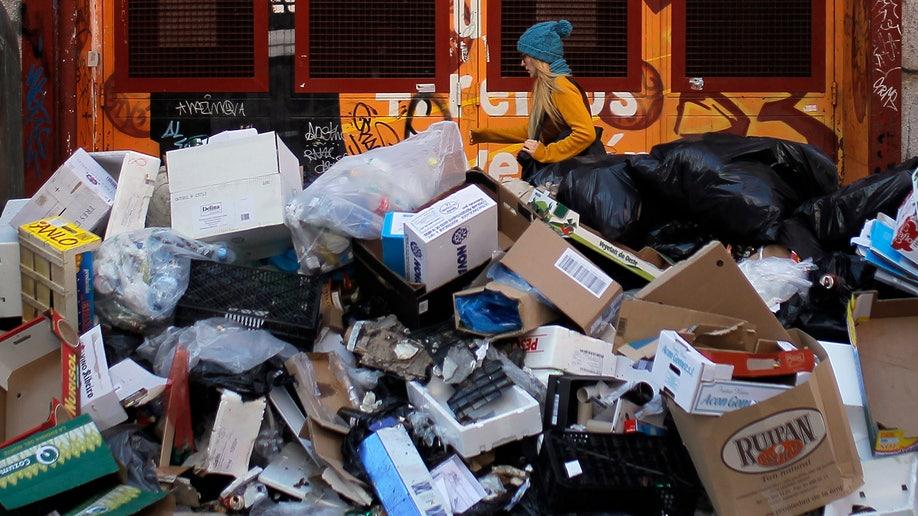 Spain Trash Strike