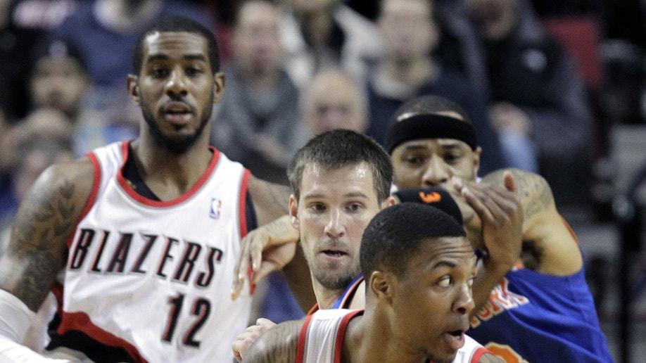 Knicks Trail Blazers Basketball