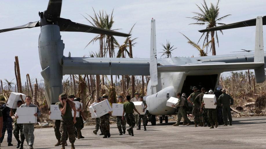 Philippines Typhoon US Military