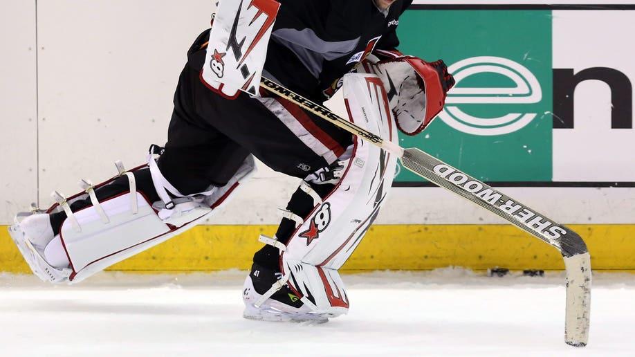 Senators Practice Hockey