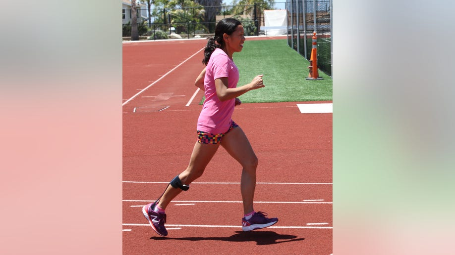cheryl running on track