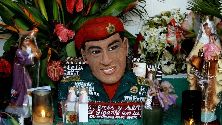 APTOPIX Venezuela Chavez Shrine