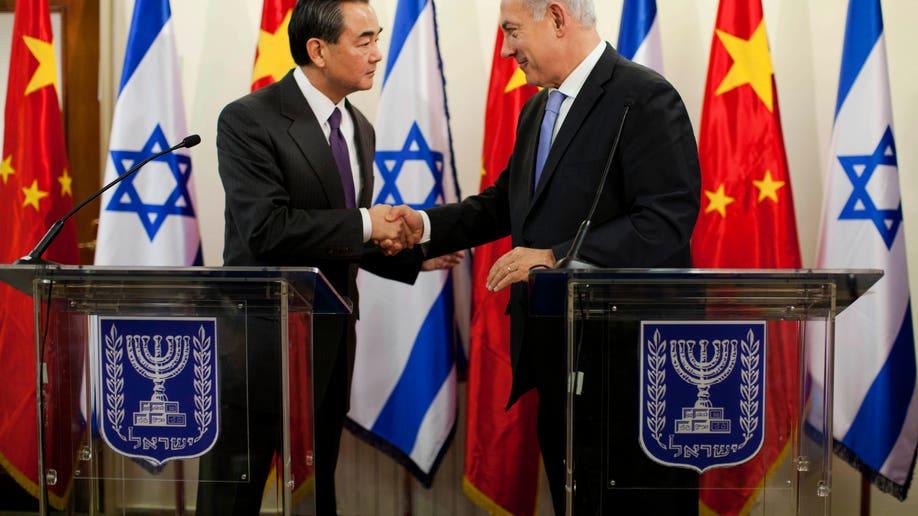 APTOPIX Mideast Israel China