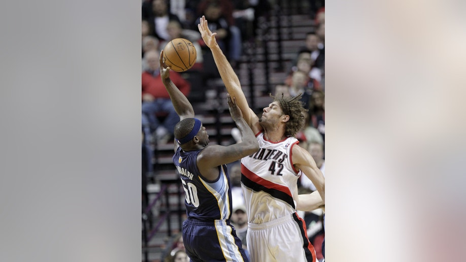 Grizzlies Trail Blazers Basketball